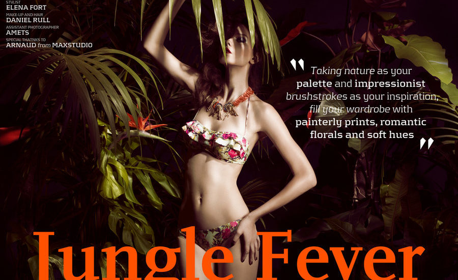 laura jouve - jungle-fever-we-are-handsome-swimwear-cover